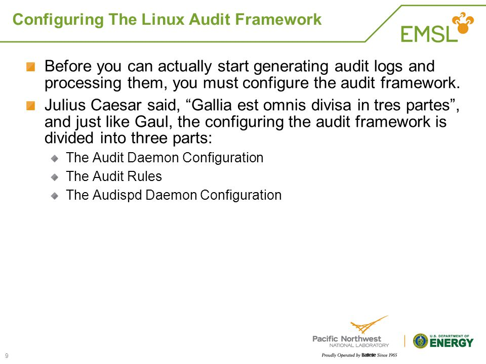 Configuring The Linux Audit Framework