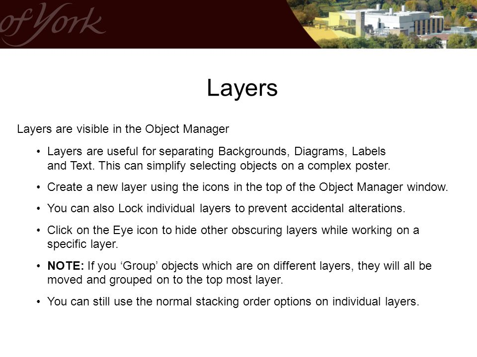 Layers Layers are visible in the Object Manager