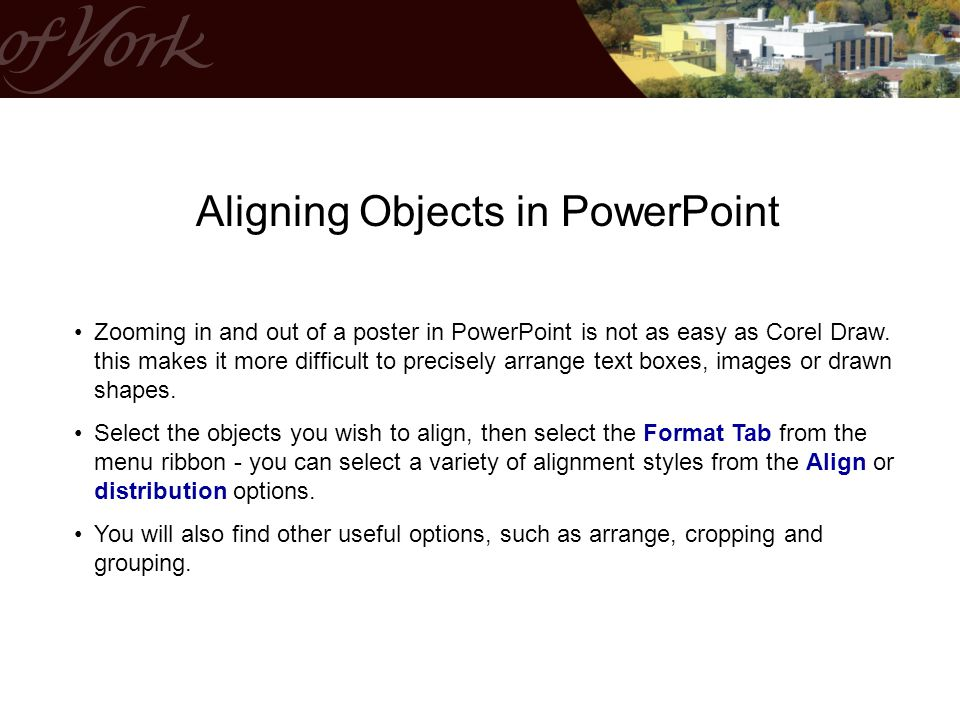 Aligning Objects in PowerPoint