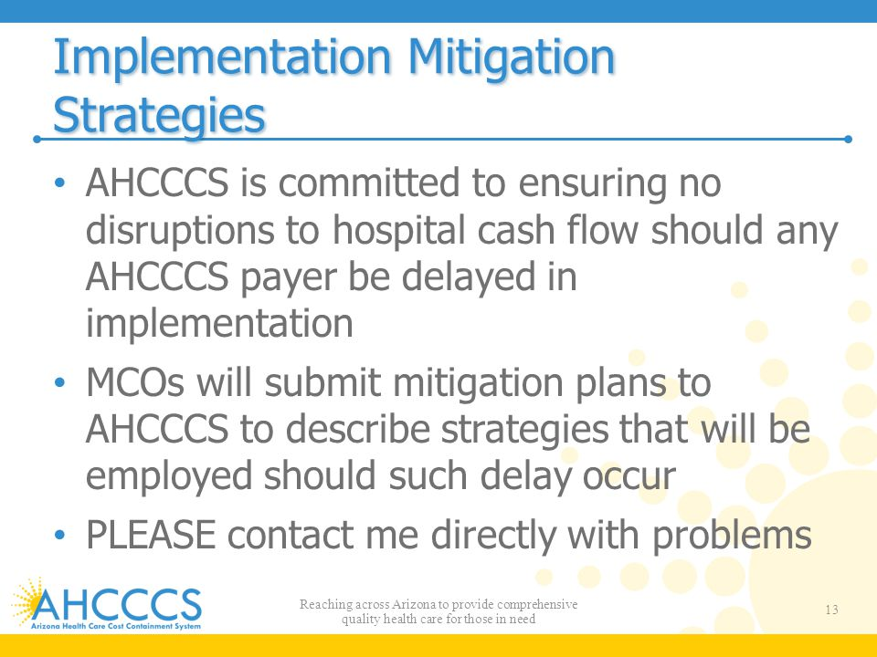 Implementation Mitigation Strategies