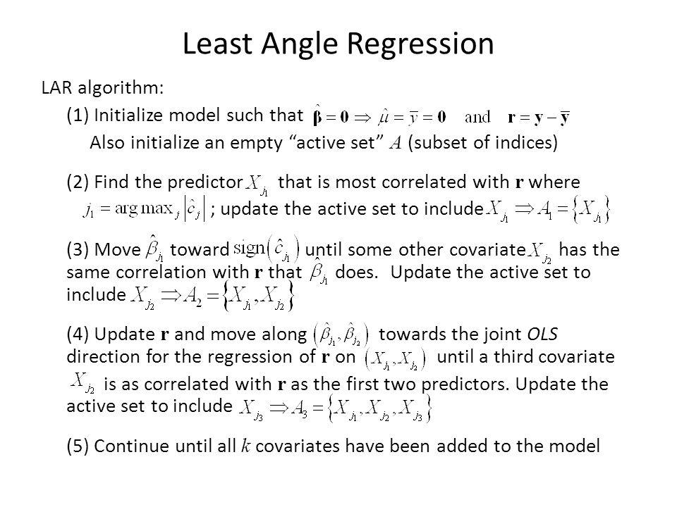Least Angle Regression