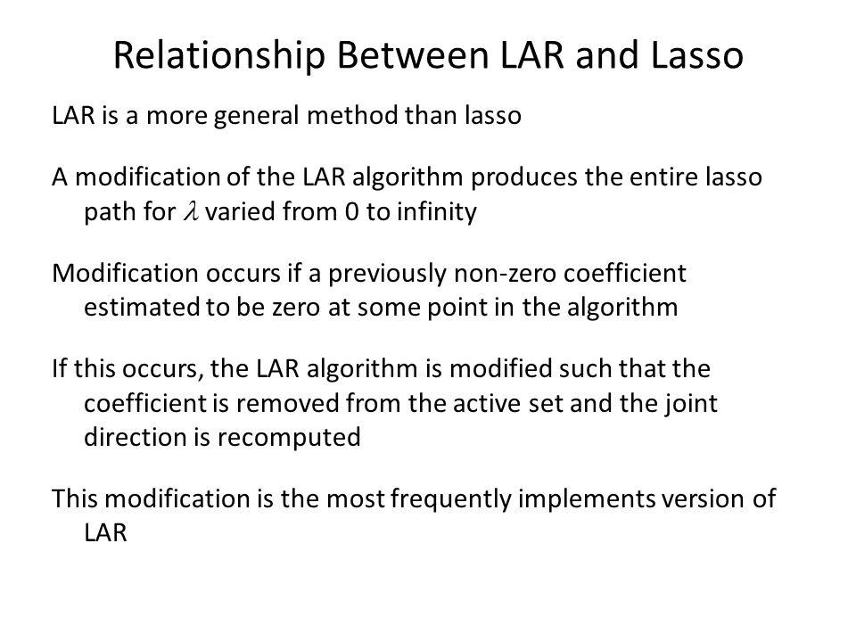 Relationship Between LAR and Lasso