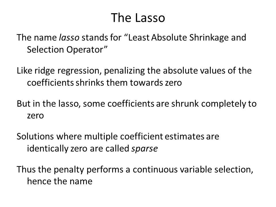 The Lasso