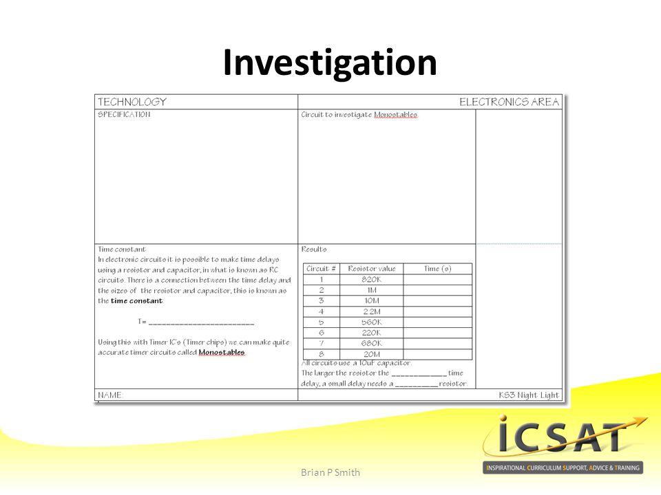 Investigation Brian P Smith