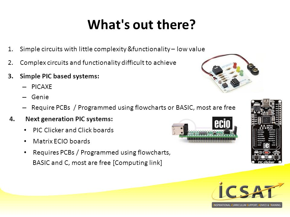 What s out there Simple circuits with little complexity &functionality – low value. Complex circuits and functionality difficult to achieve.