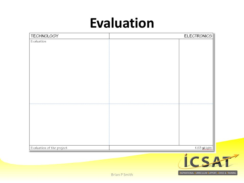 Evaluation Brian P Smith