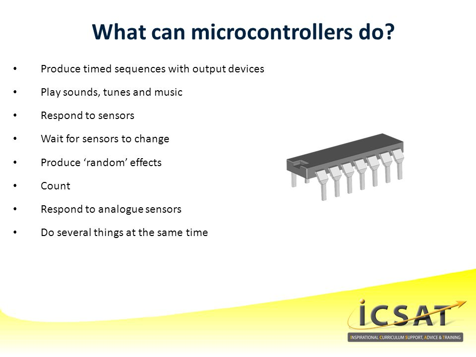 What can microcontrollers do