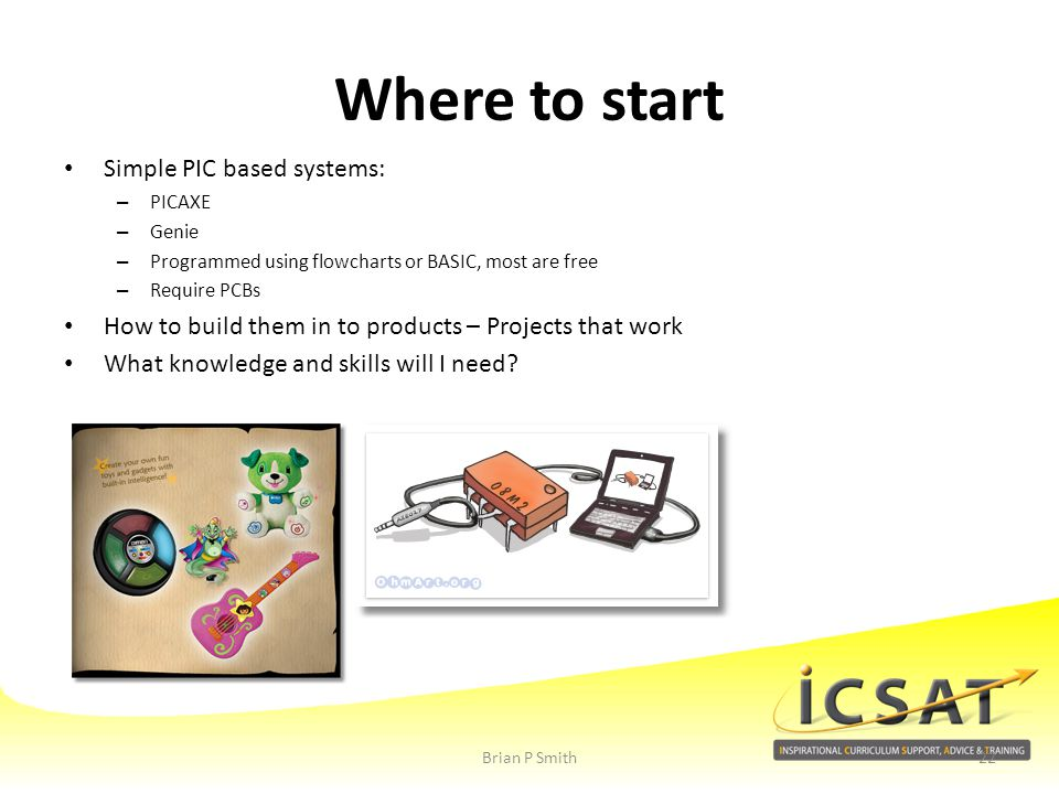 Where to start Simple PIC based systems: