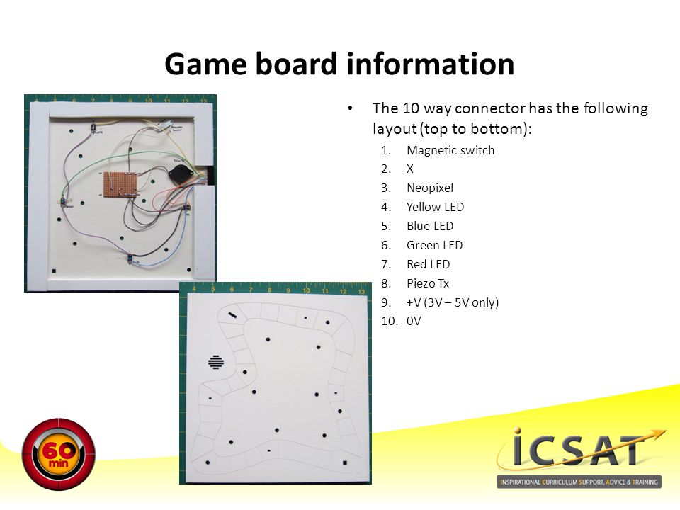 Game board information