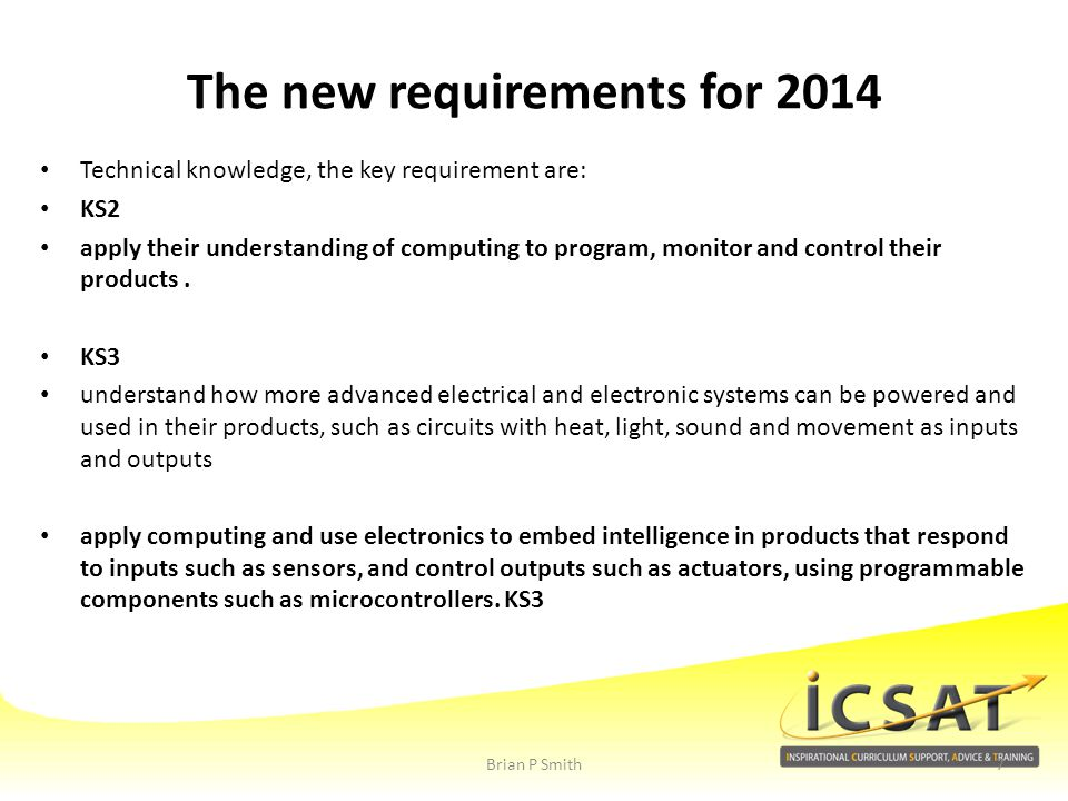 The new requirements for 2014