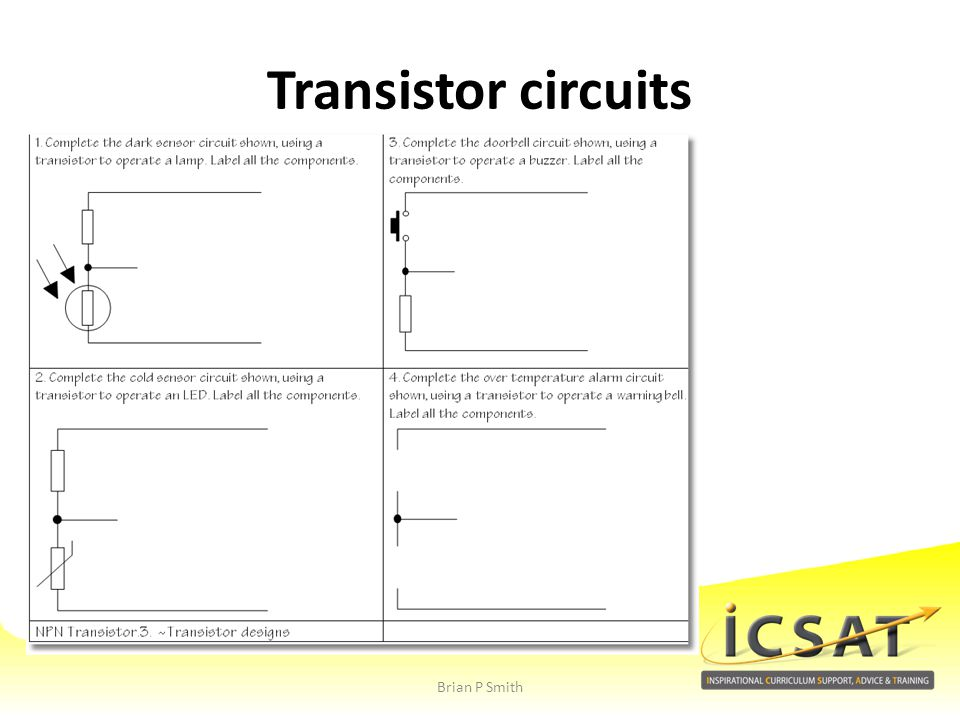 Transistor circuits Brian P Smith
