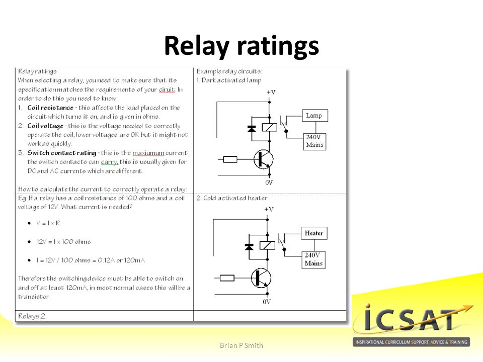 Relay ratings Brian P Smith