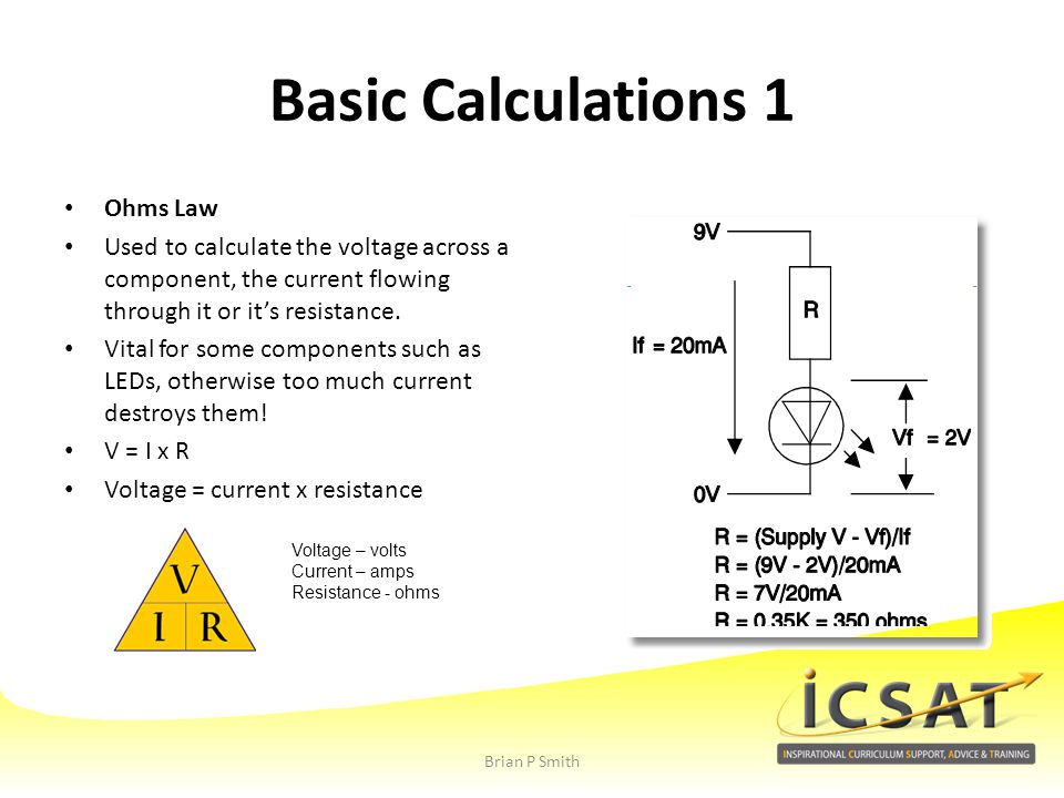 Basic Calculations 1 Ohms Law