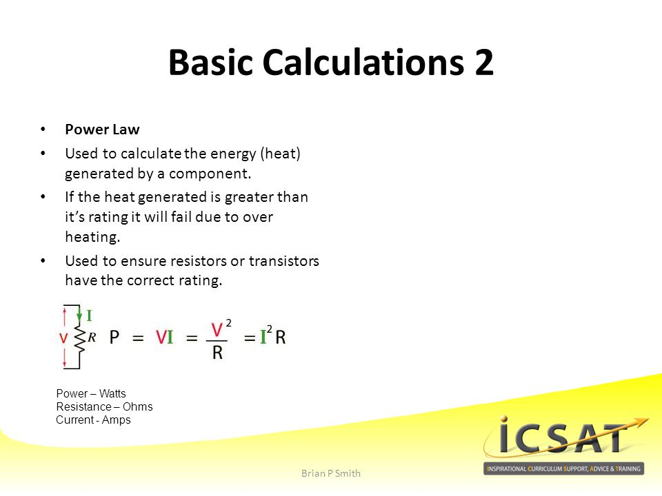 Basic Calculations 2 Power Law