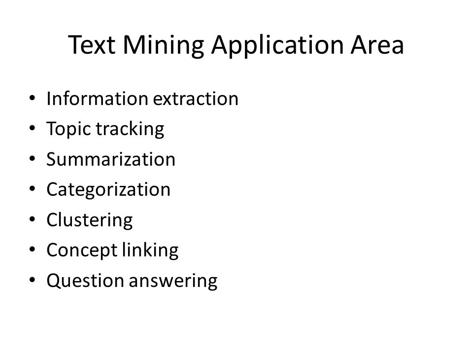 Text Mining Application Area