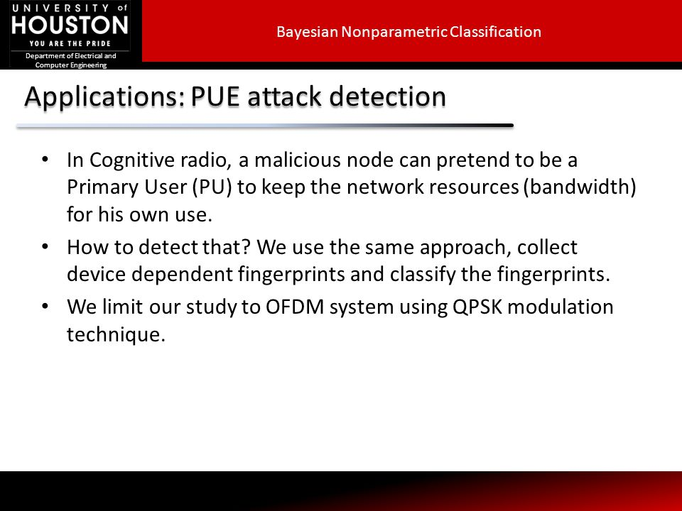 Applications: PUE attack detection