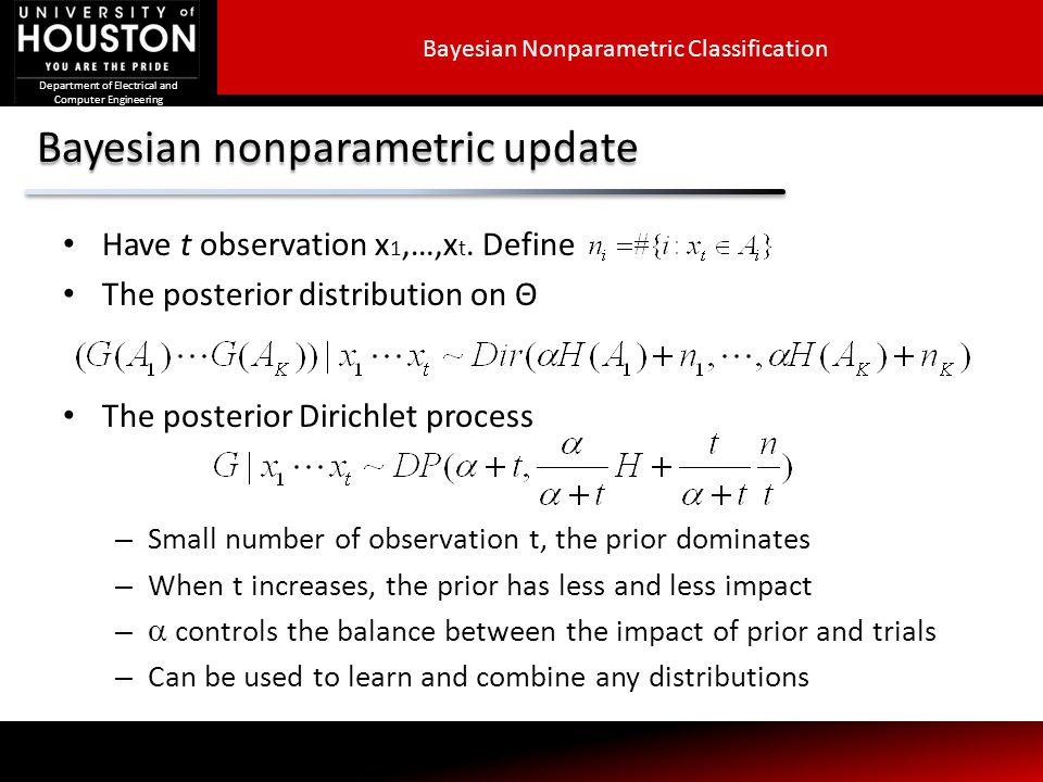 Bayesian nonparametric update