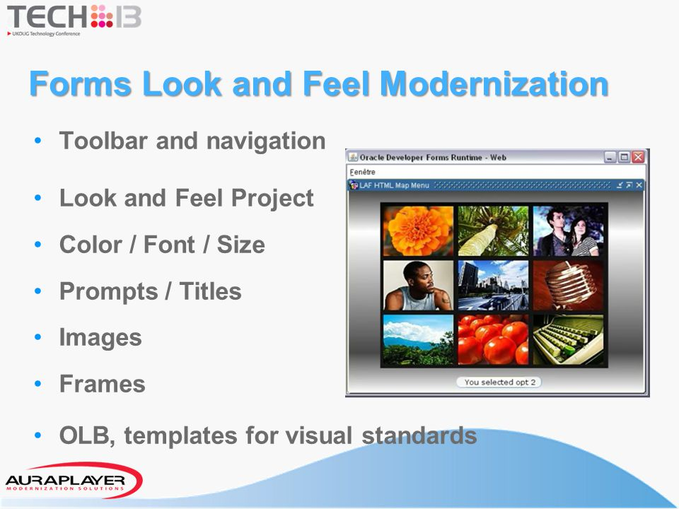 Forms Look and Feel Modernization