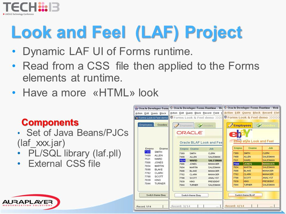 Look and Feel (LAF) Project