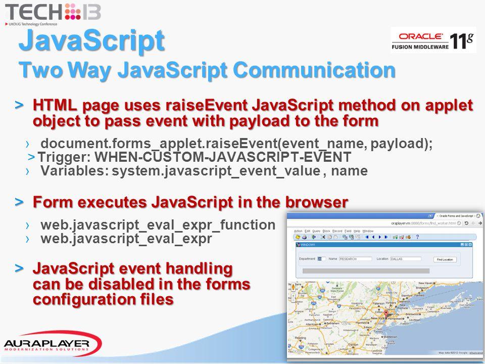 JavaScript Two Way JavaScript Communication
