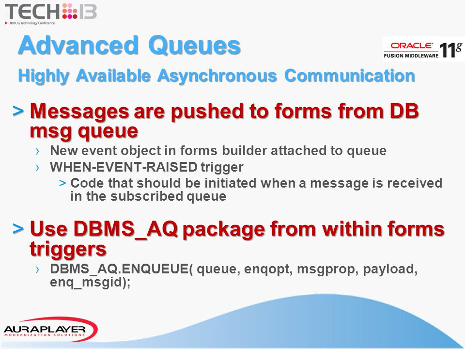 Advanced Queues Highly Available Asynchronous Communication