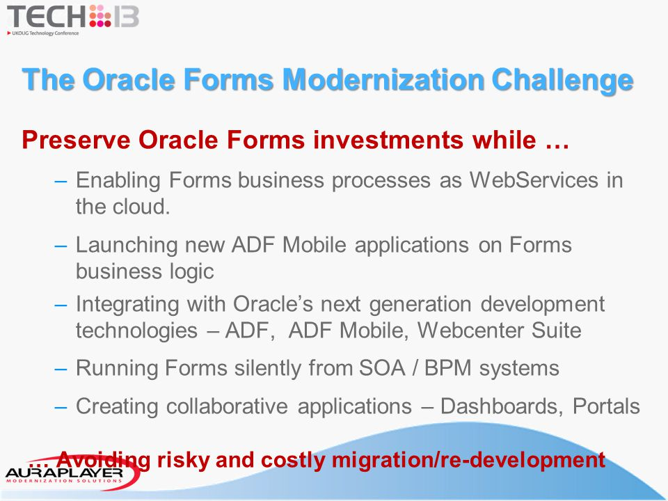 The Oracle Forms Modernization Challenge
