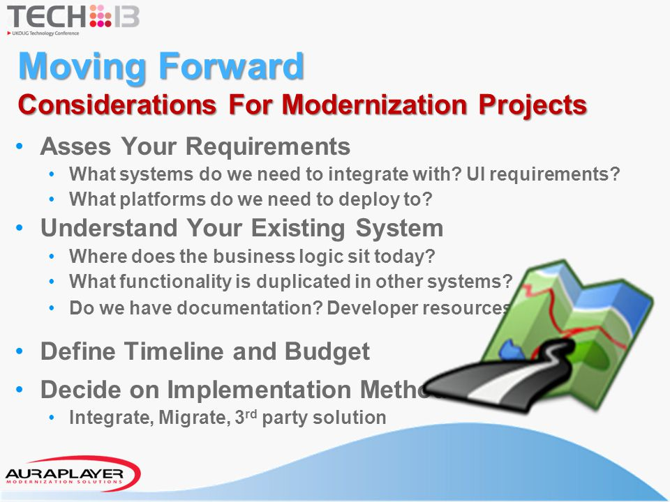 Moving Forward Considerations For Modernization Projects