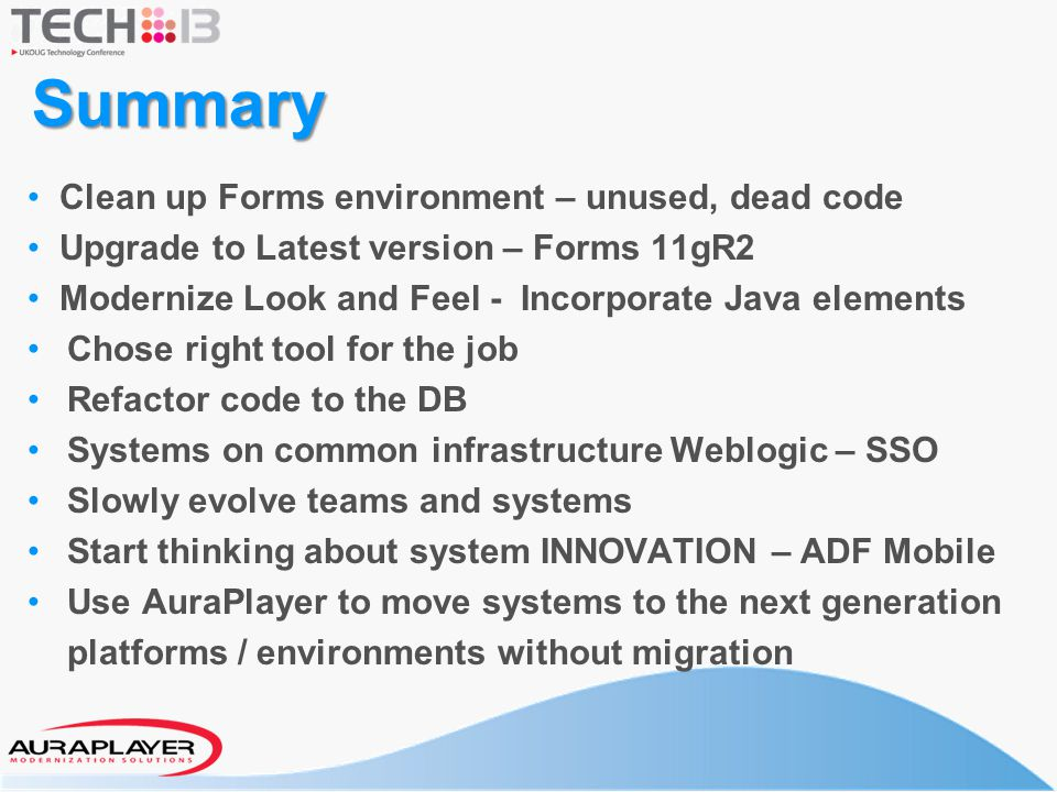 Summary Clean up Forms environment – unused, dead code
