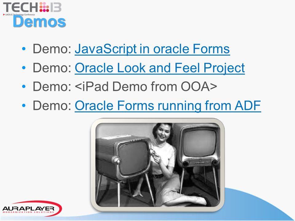 Demos Demo: JavaScript in oracle Forms
