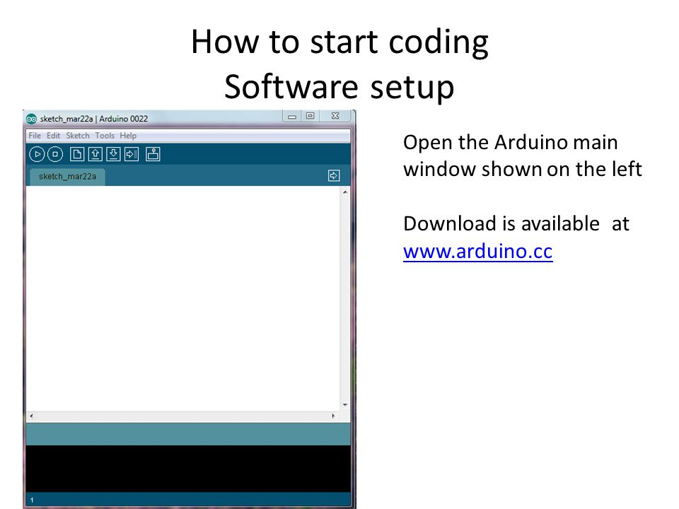 How to start coding Software setup