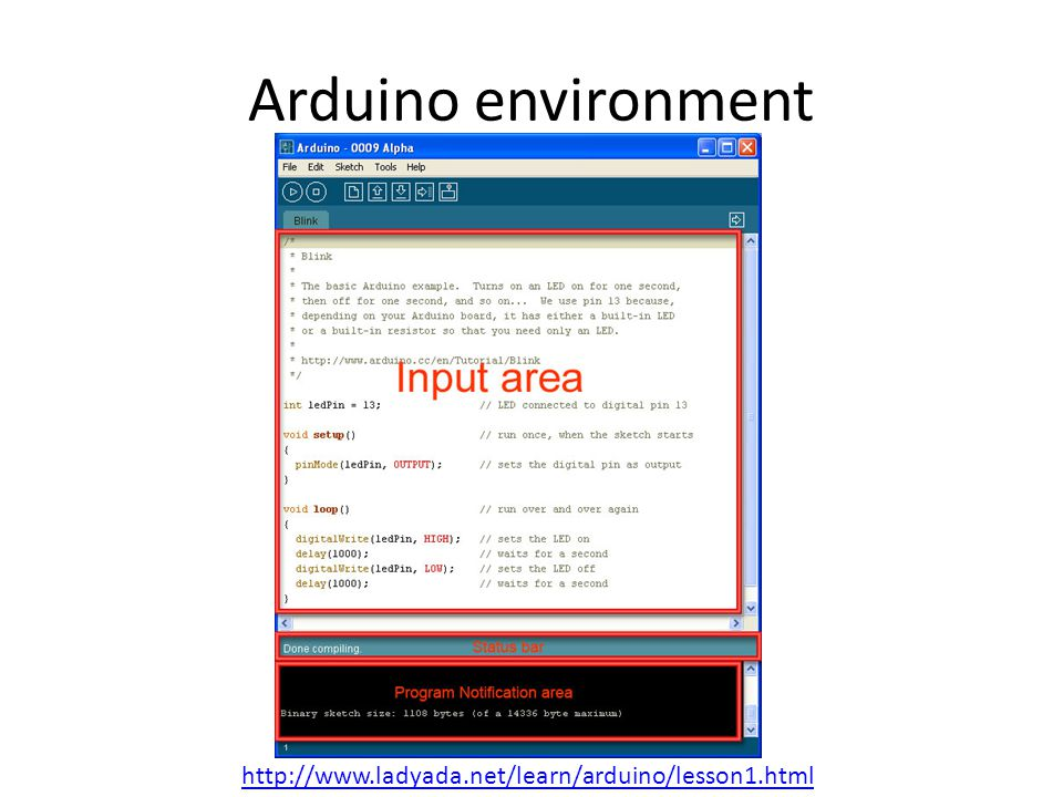 Arduino environment http://www.ladyada.net/learn/arduino/lesson1.html