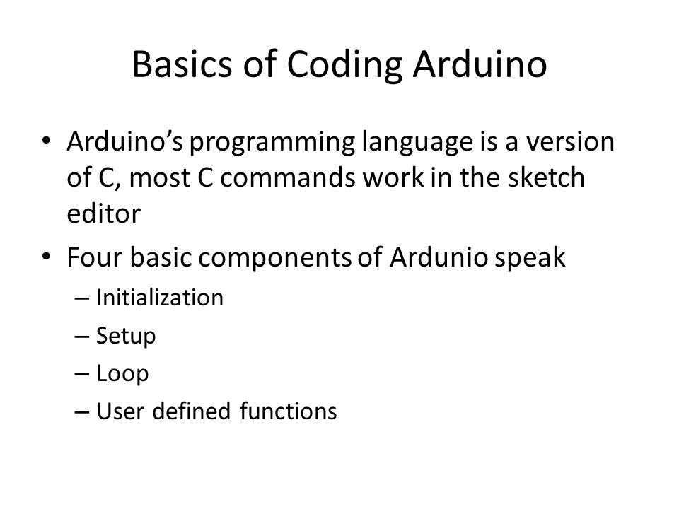 Basics of Coding Arduino