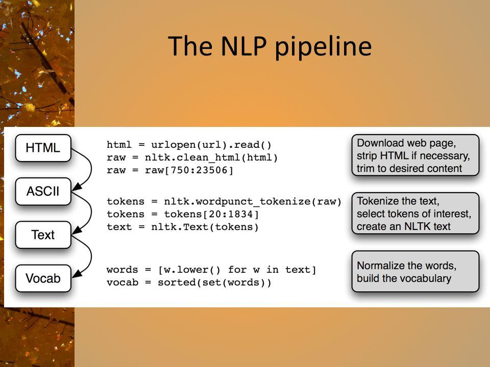 The NLP pipeline