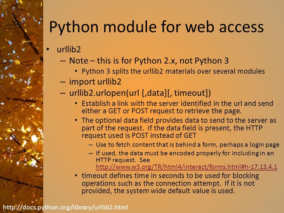 Python module for web access