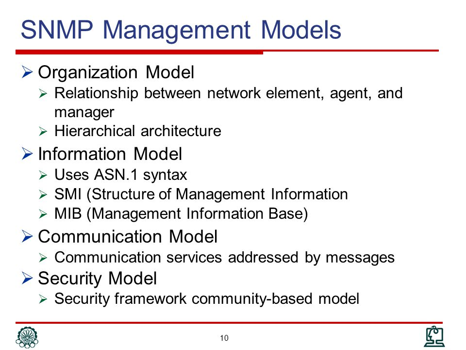 SNMP Management Models