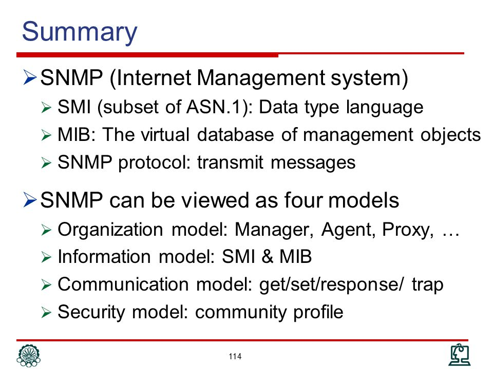 Summary SNMP (Internet Management system)