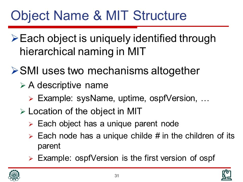 Object Name & MIT Structure