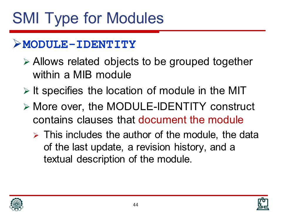 SMI Type for Modules MODULE-IDENTITY