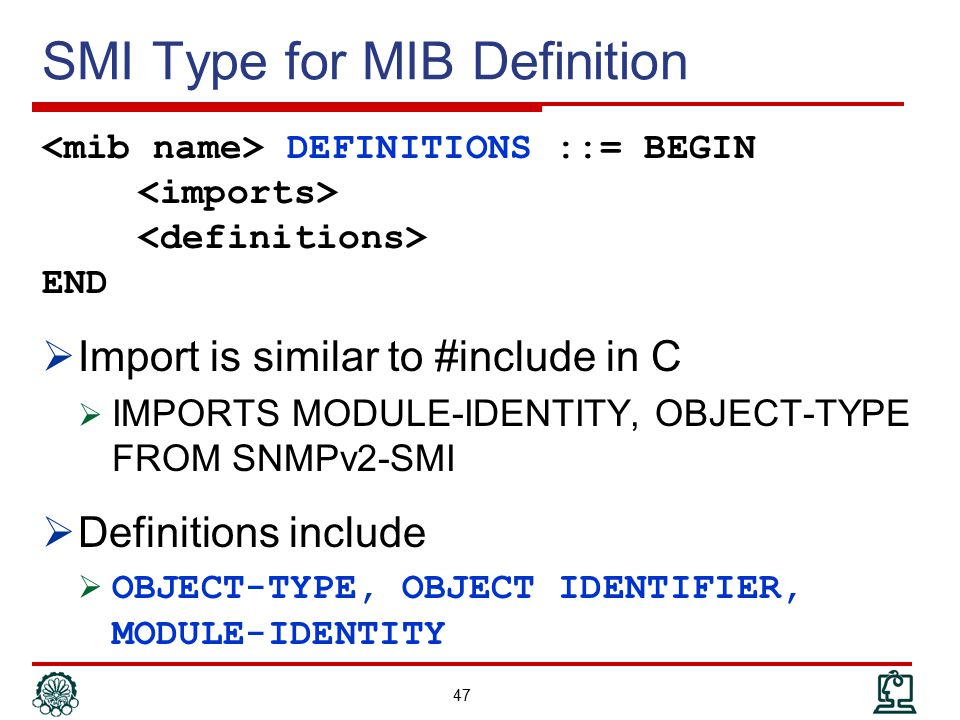 SMI Type for MIB Definition