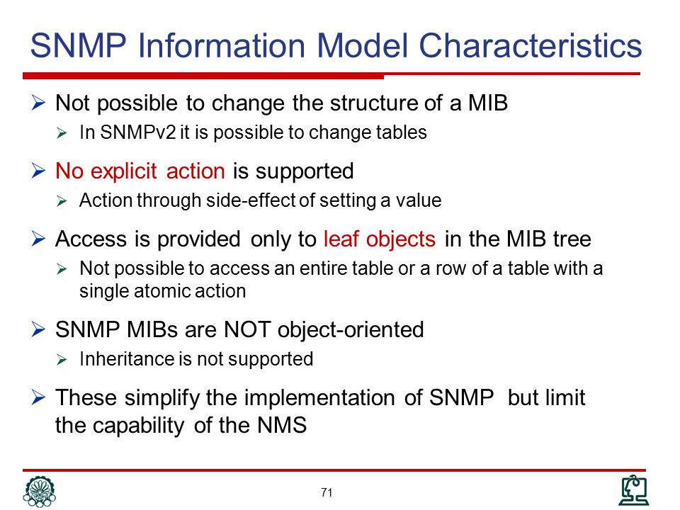 SNMP Information Model Characteristics