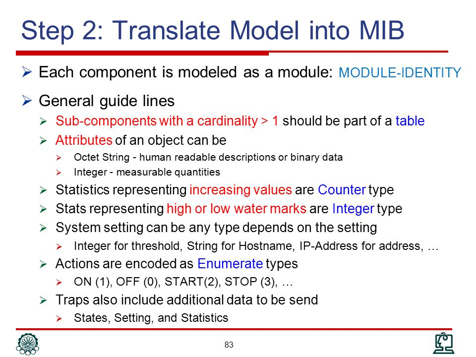 Step 2: Translate Model into MIB