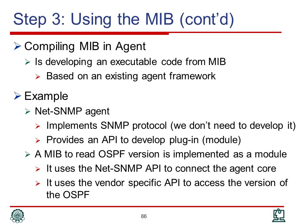Step 3: Using the MIB (cont'd)