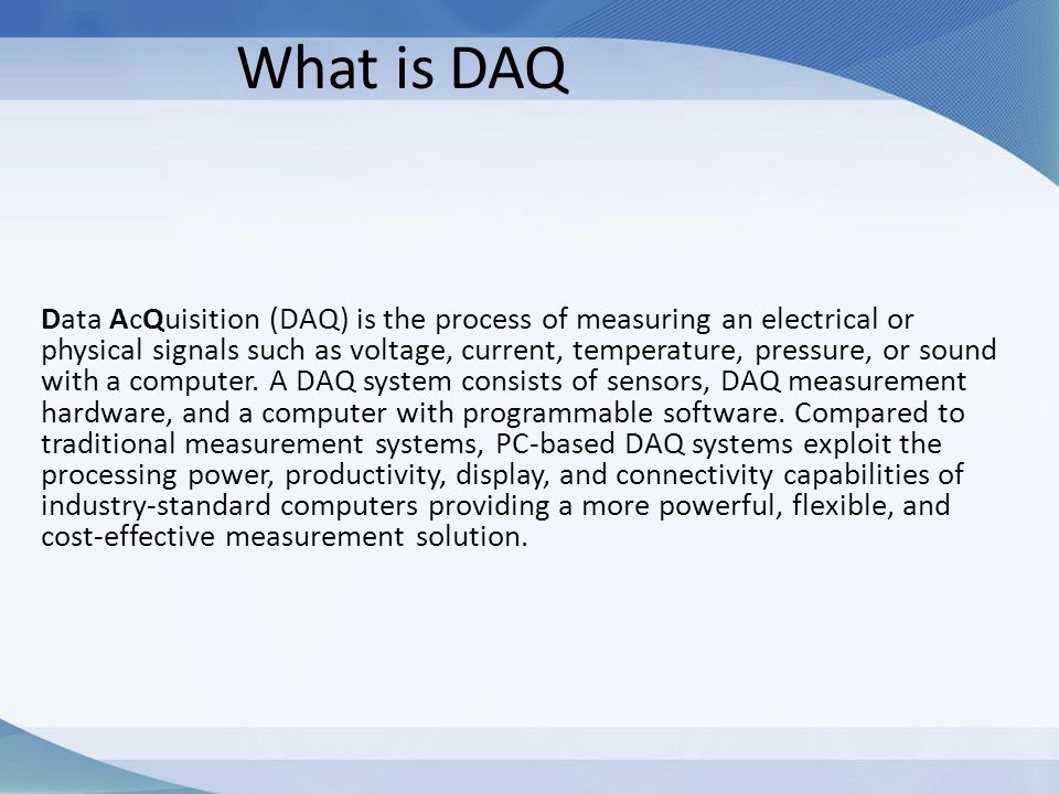 What is DAQ