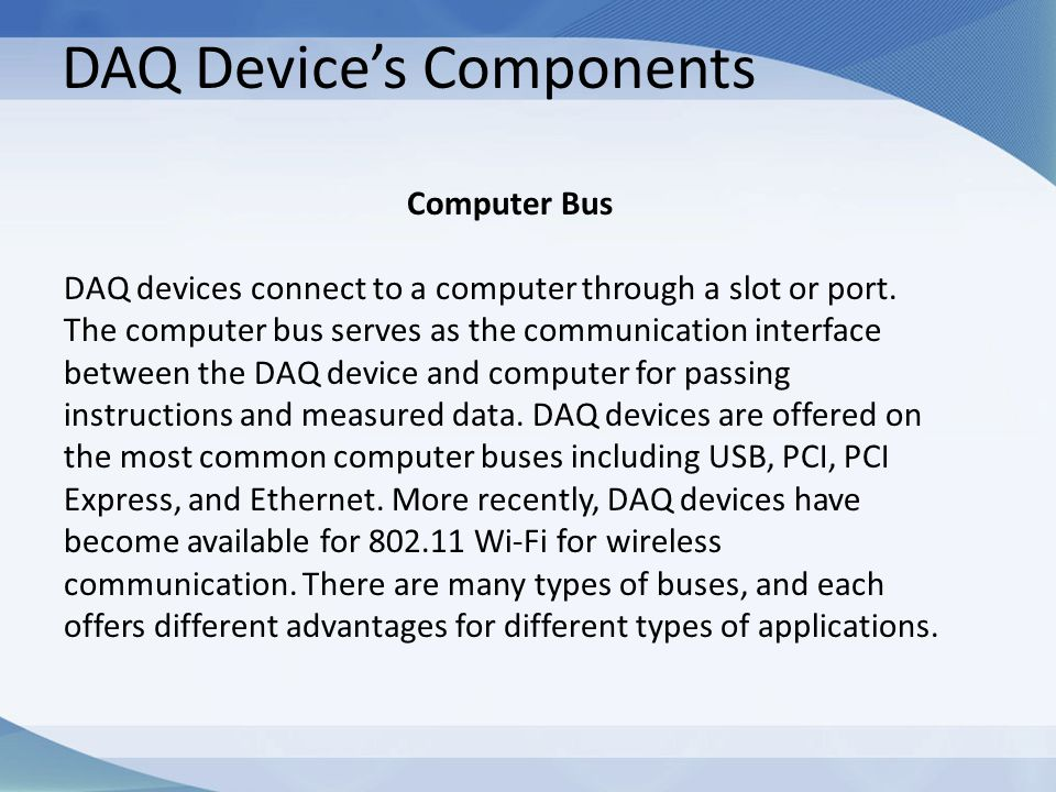 DAQ Device's Components