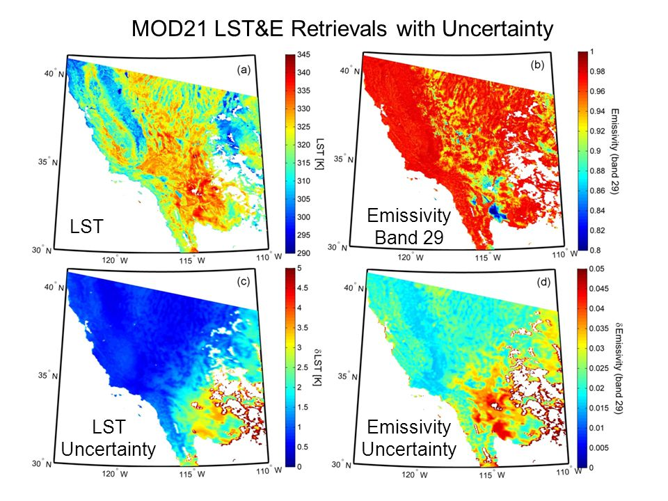 MOD21 LST&E Retrievals with Uncertainty
