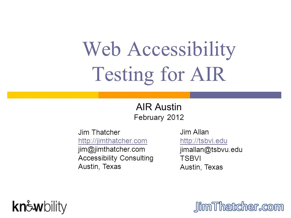 Web Accessibility Testing for AIR