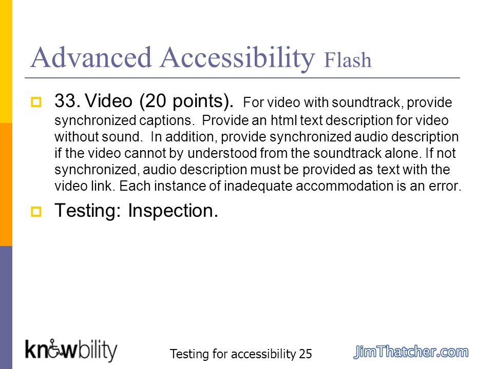 Advanced Accessibility Flash