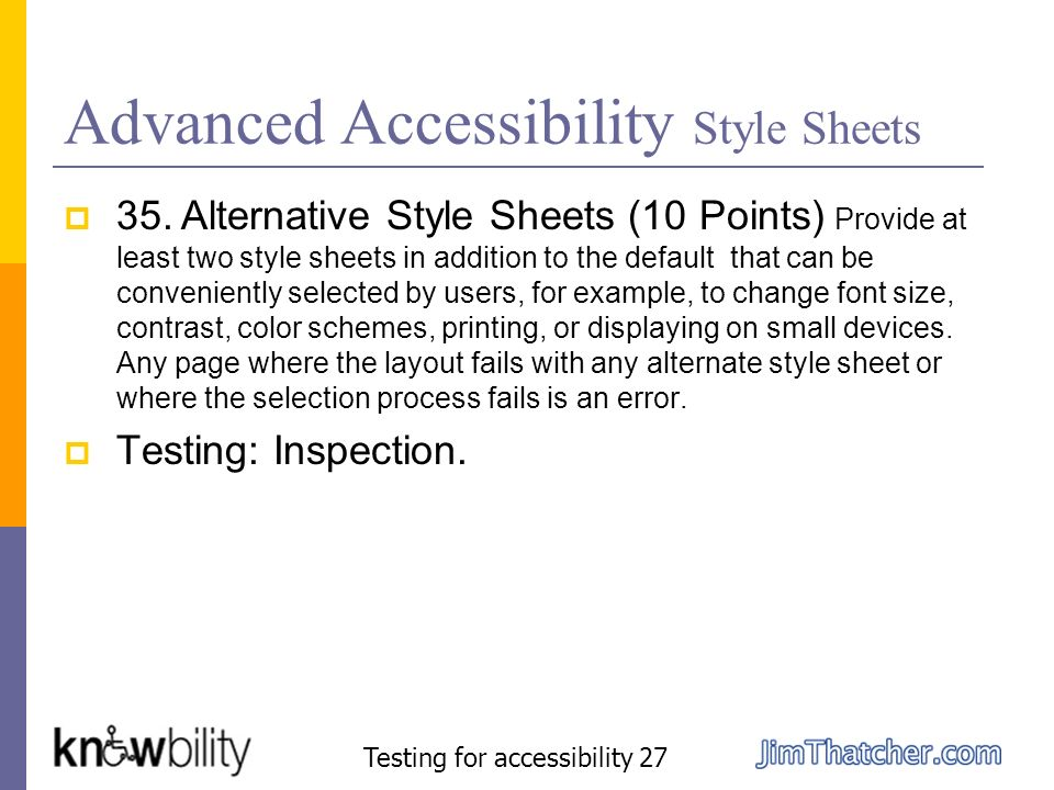 Advanced Accessibility Style Sheets