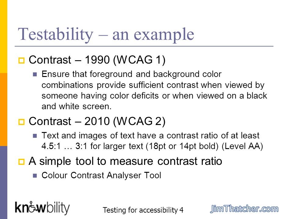 Testability – an example