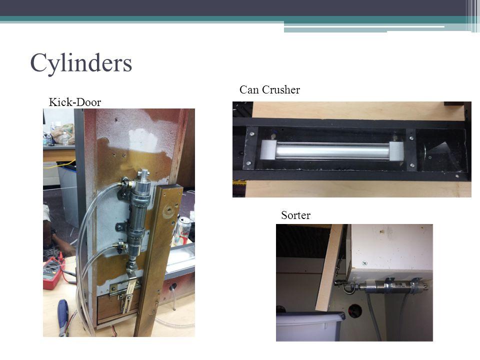 Cylinders Can Crusher Kick-Door Sorter
